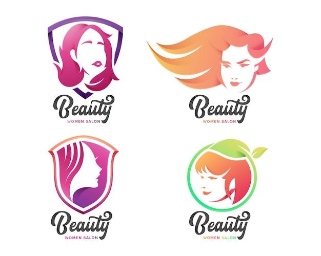 Set di logo femminile di bellezza per l'azienda
