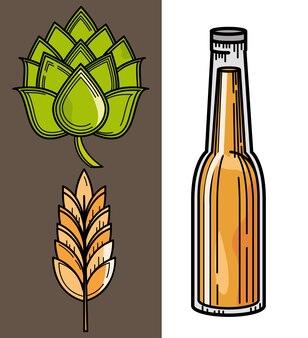 Set di birra e orzo