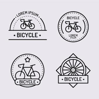 Set di logo bici in design piatto
