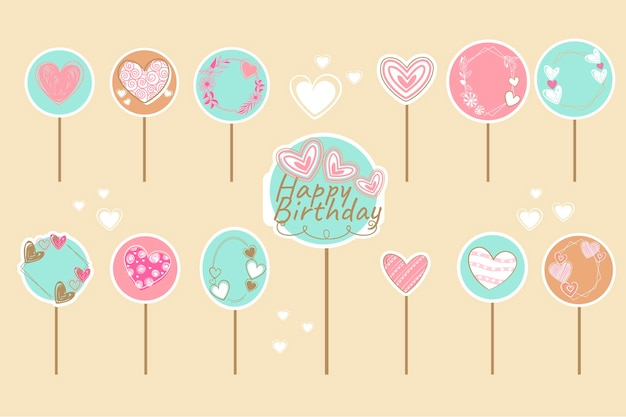 Set di topper per torta di compleanno