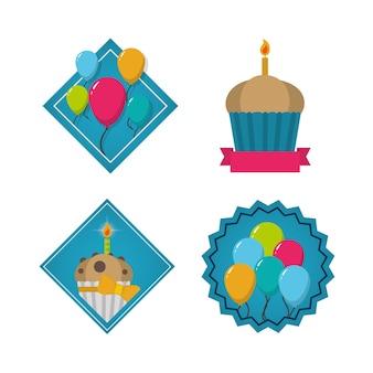 Set di raccolta di elementi di compleanno