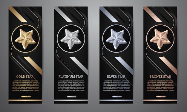 Set di bandiere nere