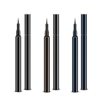 Set di matite eyeliner trucco cosmetico blu marrone nero senza tappi