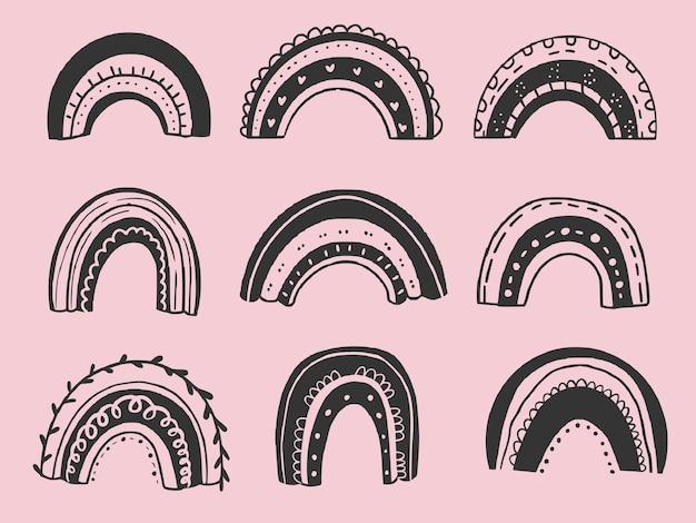 Set di arcobaleni neri