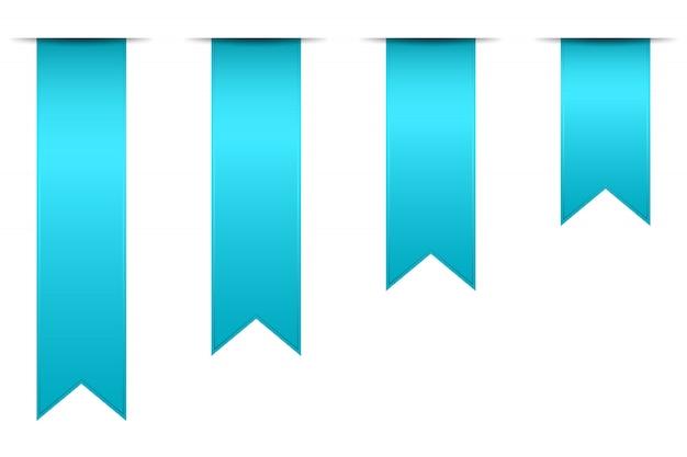 Set di segnalibri isolati in bianco.