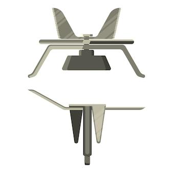 Set di lame frullatore elementi taglienti affilati in acciaio inossidabile per tritare i prodotti