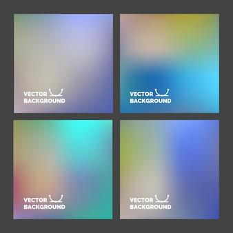 Impostato. sfondi sfocati. sfondo sfocato multicolore per design, sito web, poster infografica, pubblicità su carta