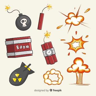 Insieme di effetti di esplosione della bomba