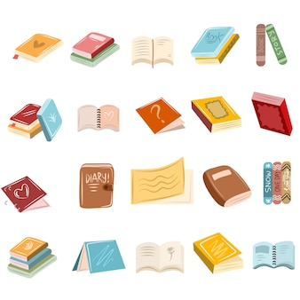 Set di libri in stile scarabocchio