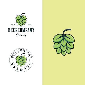 Set di modello di progettazione logo birreria. premium per la birra dei loghi