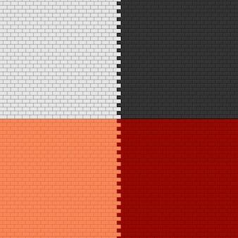 Set di sfondi di muro di mattoni