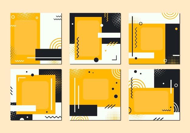 Una serie di striscioni luminosi con forme geometriche. illustrazione vettoriale.