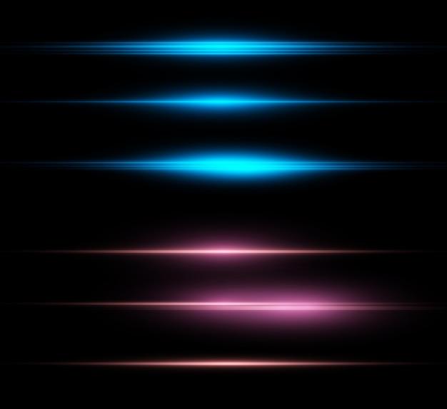 Set di belle stelle luminose scintillanti grafica vettoriale di belle luci.
