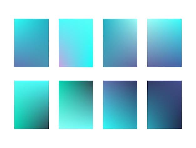 Set di sfondi dell'interfaccia utente luminosi e profondi. sfumature alla moda turchese e acquamarina