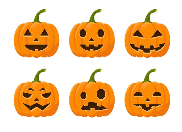 Set di zucca di halloween luminosa per le vacanze autunnali
