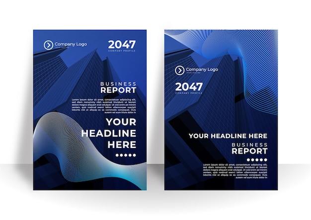 Set di brochure, relazione annuale, modelli di progettazione di volantini in formato a4. illustrazioni vettoriali per presentazioni aziendali, documenti aziendali, copertine di documenti aziendali e modelli di layout