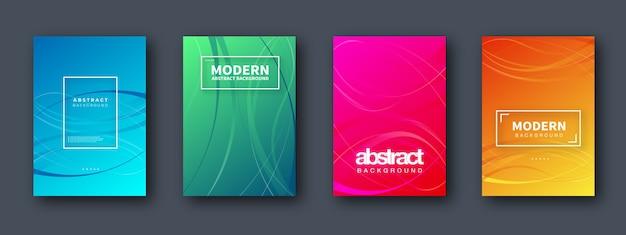 Set di brochure, relazione annuale, modelli di design flyer