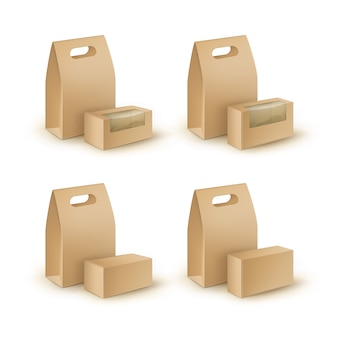 Set di imballaggi in cartone marrone