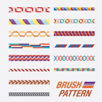 Set di pattern di pennello. pennello senza soluzione di continuità.