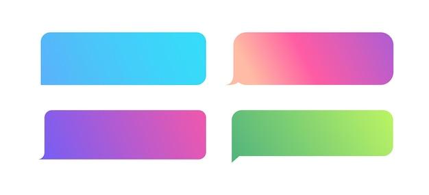 Set di modelli di messaggi a bolle per la comunicazione di bolle vocali di chat per applicazioni di chat mobile del sito web