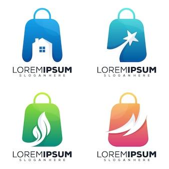 Imposta il design del logo del negozio in bundle