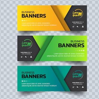 Set di modello di banner di affari.