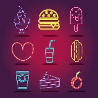 Metta la decorazione commerciale delle icone al neon di affari