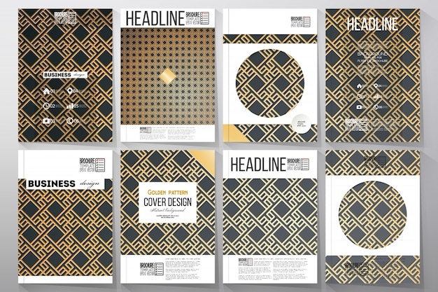 Set di modelli di business per la brochure