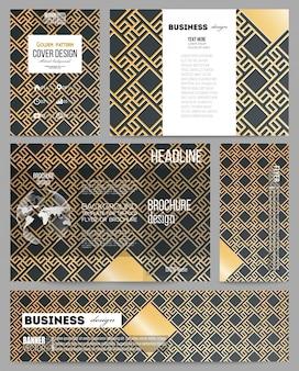 Set di modelli di business per la presentazione