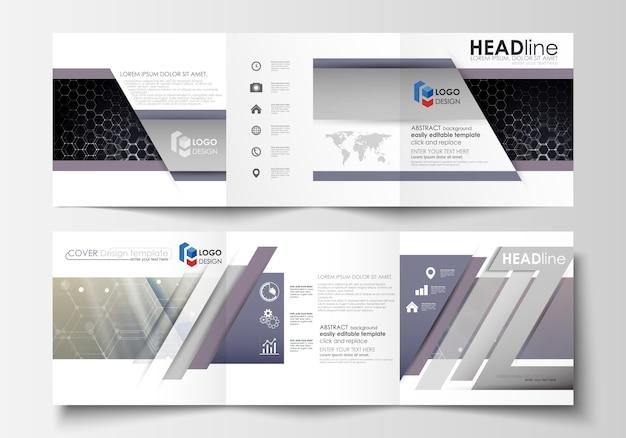 Set di modelli di business per brochure tri-fold.