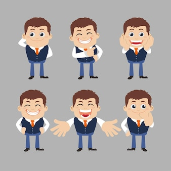 Set di personaggi d'affari in diverse pose