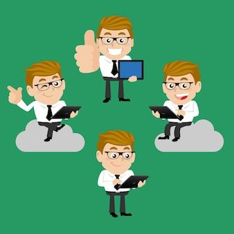 Set di uomo d'affari