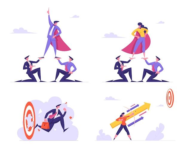 Set di imprenditori leadership e raggiungimento degli obiettivi