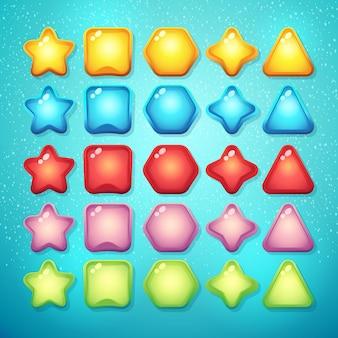 Set di pulsanti elementi e simboli