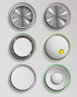 Set di pulsanti per il controllo del volume della realtà.