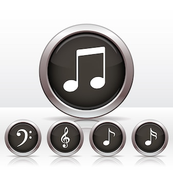 Impostare i pulsanti con l'icona della nota musicale.
