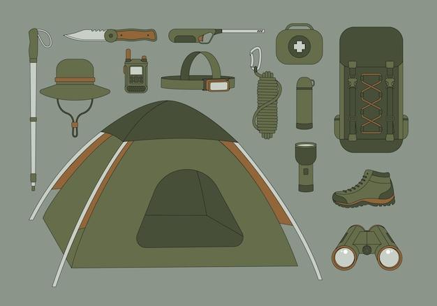 Set di attrezzatura da campeggio