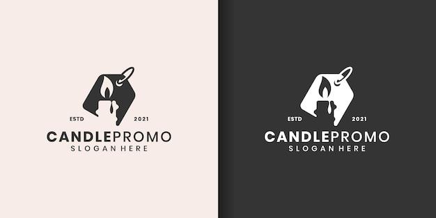 Set di modello di logo di candela
