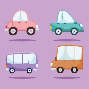 Impostare le auto dei cartoni animati