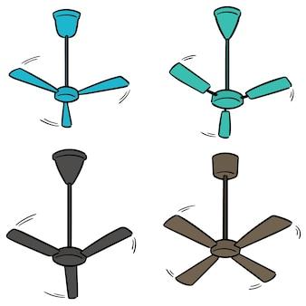 Set di ventilatore a soffitto