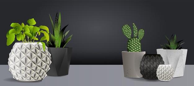 Set vaso bianco in ceramica isolato su uno sfondo bianco