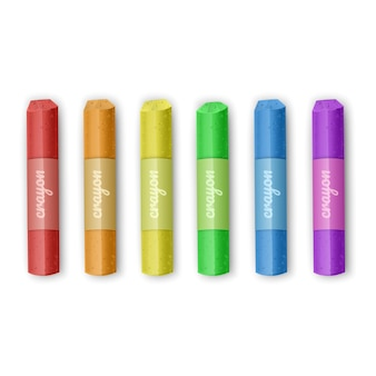 Set di pastelli a gesso dei colori dell'arcobaleno