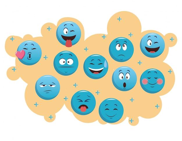 Set di emoticon chat