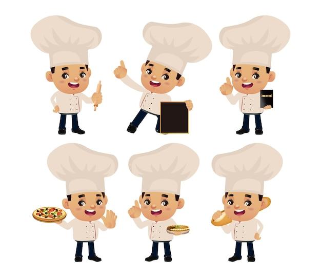 Set di chef con pose diverse