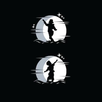 Set di ispirazione per il design del logo dei sogni dei bambini