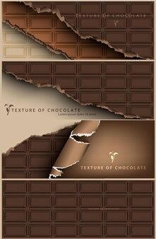 Set di banner al cioccolato