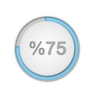 Set di diagrammi percentuali del cerchio pronti per l'uso per l'interfaccia utente di web design ui vettore premium