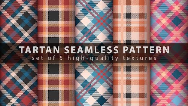 Set di pattern seamless tartan classico