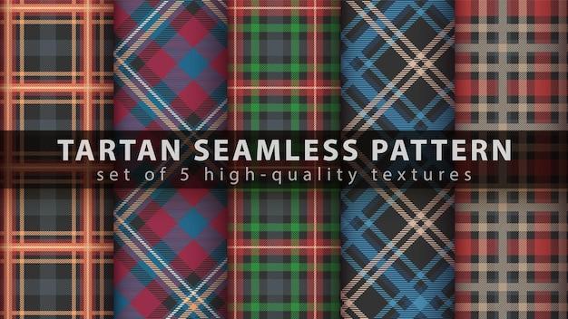 Impostare il classico motivo scozzese senza cuciture.