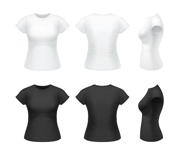 Set di camicia da donna classica isolato su bianco